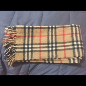 Authentic Burberry's of London lambs wool scarf